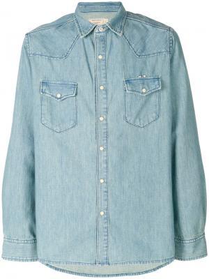 Объемная джинсовая рубашка Maison Kitsuné. Цвет: синий