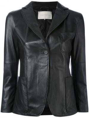 Leather blazer LAutre Chose L'Autre. Цвет: чёрный