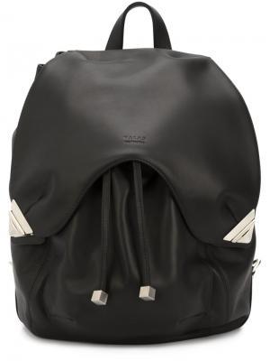 Рюкзак с тиснением логотипа Valas. Цвет: чёрный
