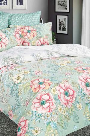 Постельное белье 2сп. 70х70 Amore Mio. Цвет: зеленый, розовый