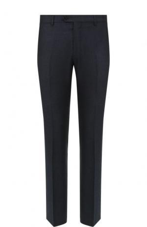 Шерстяные брюки прямого кроя Berwich. Цвет: синий