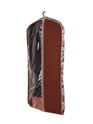 Чехол объемный для одежды большой Прованс COFRET. Цвет: бежевый, коричневый, голубой