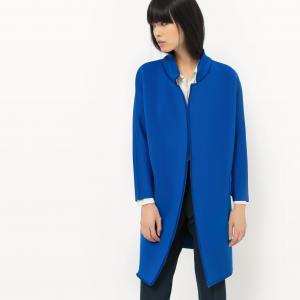 Пальто длинное из полиэстера SUNCOO. Цвет: синий