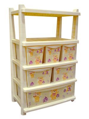 Детский комод для детской комнаты Bears 610мм комбинированный Little Angel. Цвет: бежевый
