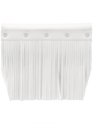 Клатч с бахромой Comme Des Garçons Wallet. Цвет: белый
