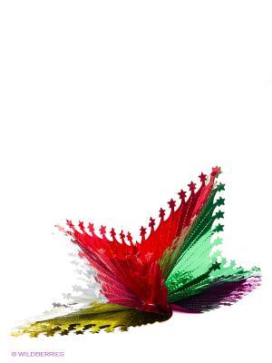 Подвеска Звезда обычная 38 см Карнавал-Премьер. Цвет: синий, зеленый, серебристый, красный, желтый