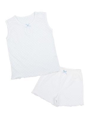 Пижама Апрель. Цвет: светло-серый, белый
