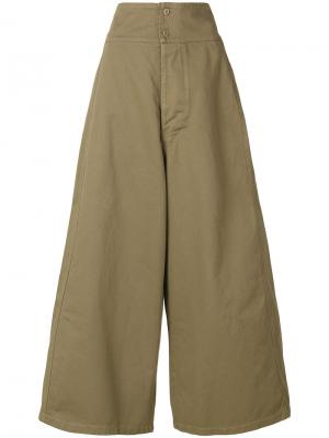 Оверсайз-брюки клеш Labo Art. Цвет: зелёный