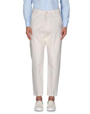 Повседневные брюки 26.7 TWENTYSIXSEVEN. Цвет: белый