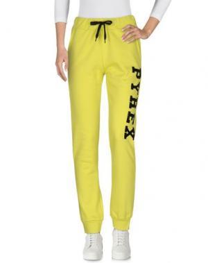 Повседневные брюки PYREX. Цвет: кислотно-зеленый