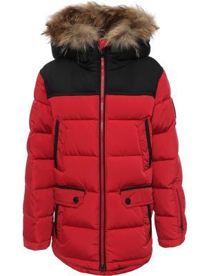 Куртка Finn Flare. Цвет: красный