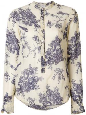Рубашка с цветочным принтом Forte. Цвет: телесный