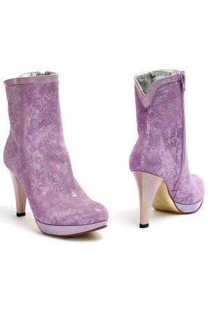 Полусапожки Mafra. Цвет: фиолетовый