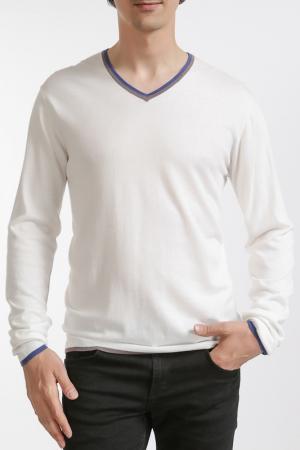 Пуловер LES ATELIERS DE LA MAILLE. Цвет: белый