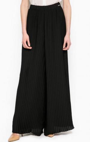Широкие брюки черного цвета Maison Espin. Цвет: черный