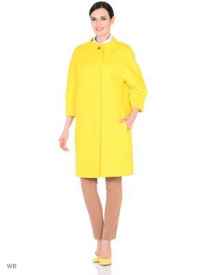 Пальто Lea Vinci. Цвет: желтый