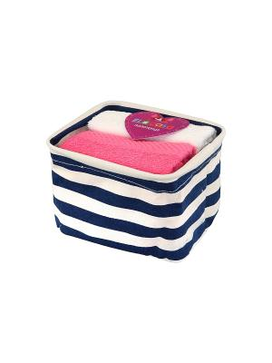 Набор из 2-х полотенец Нежное утро EL CASA. Цвет: белый, синий, розовый