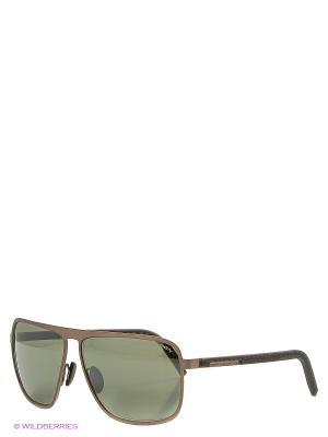 Солнцезащитные очки Porsche Design. Цвет: бронзовый