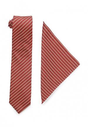 Галстук и платок VinzoVista. Цвет: коричневый