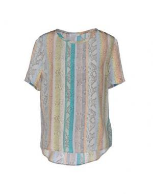 Блузка EQUIPMENT FEMME. Цвет: светло-желтый