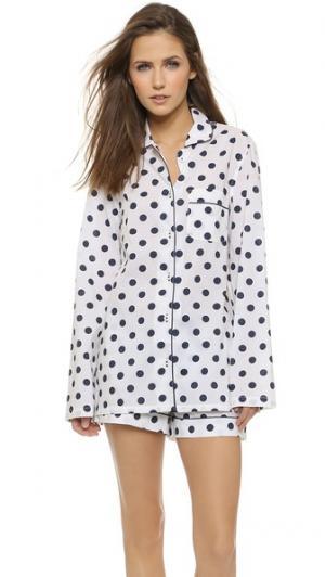 Пижама Pheobe Three J NYC. Цвет: белый/темно-синий горошек
