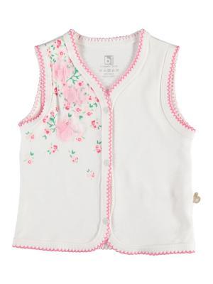 Жилет детский Bi Baby. Цвет: кремовый, розовый