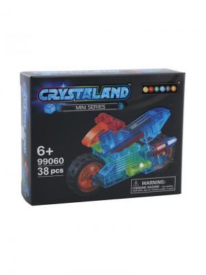 Светящийся конструктор Crystaland Мини Мотоцикл 38 деталей Neocube. Цвет: фиолетовый