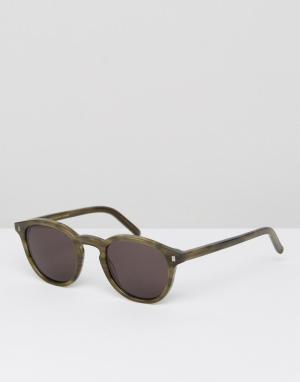Monokel Eyewear Солнцезащитные очки в круглой зеленой оправе Nelson. Цвет: зеленый
