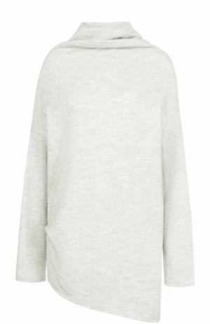Шерстяной свитер свободного кроя Yohji Yamamoto. Цвет: серый