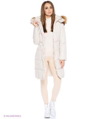 Пальто Snow Guard. Цвет: бежевый