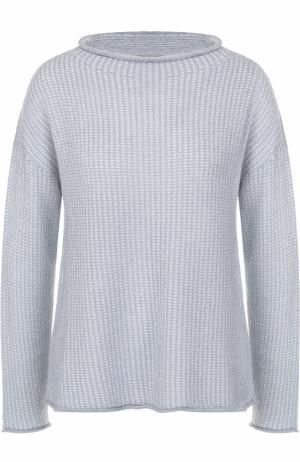 Вязаный пуловер с круглым вырезом Armani Collezioni. Цвет: голубой