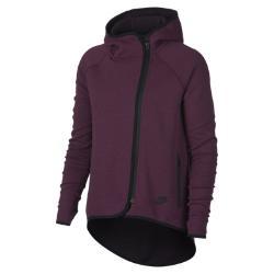 Женский кейп с молнией во всю длину  Sportswear Tech Fleece Nike. Цвет: пурпурный