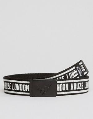 Abuze London Ремень с пряжкой-клипсой и принтом. Цвет: черный