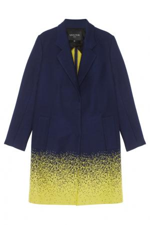 Пальто Viva Vox. Цвет: синий, желтый