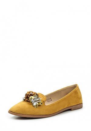 Лоферы Sweet Shoes. Цвет: желтый