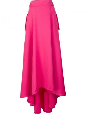 Драпированная юбка Zac Posen. Цвет: розовый и фиолетовый