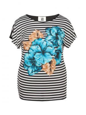 Блуза KR. Цвет: черный, синий
