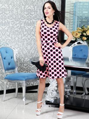 Платье Lussotico. Цвет: розовый, белый, черный