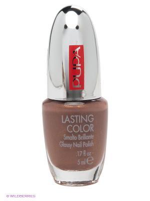Лак для ногтей Lasting Color Gel Pupa. Цвет: серо-коричневый