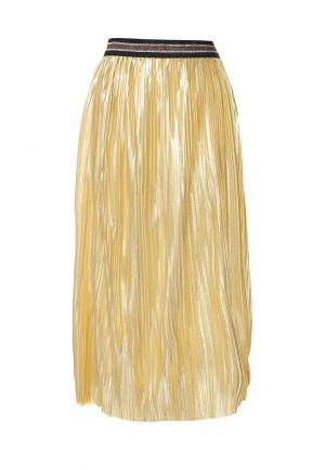 Юбка B.Style. Цвет: золотой