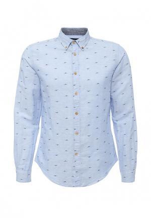 Рубашка Springfield. Цвет: голубой