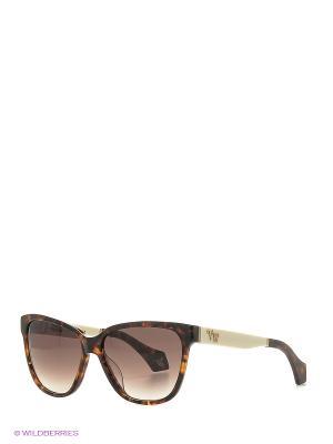 Солнцезащитные очки VW 902S 02 Vivienne Westwood. Цвет: бежевый