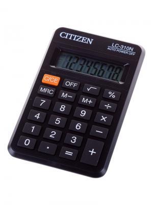 Калькулятор настольный Correct SD 12 разрядов, двойное питание, 103*138*24 мм, черный CITIZEN. Цвет: черный