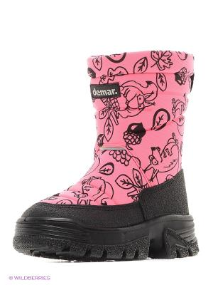 Полусапожки DEMAR. Цвет: черный, розовый