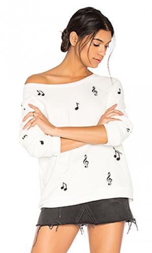 Пуловер noleta music notes Lauren Moshi. Цвет: белый