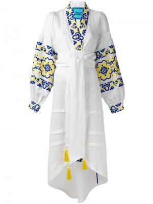 Платье Spell Yuliya Magdych. Цвет: белый