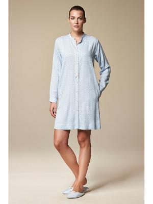 Ночная сорочка RELAX MODE. Цвет: голубой