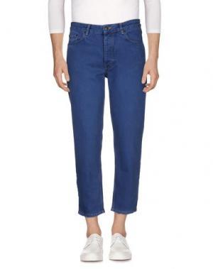 Джинсовые брюки WON HUNDRED. Цвет: синий