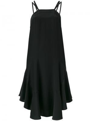 Платье с оборками и открытой спиной Barbara Bui. Цвет: чёрный