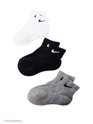 Носки 3PPK CUSHION QUARTERL Nike. Цвет: черный, серый, белый
